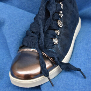 sneaker alte con applicazioni vera pelle luxory charlie fashion